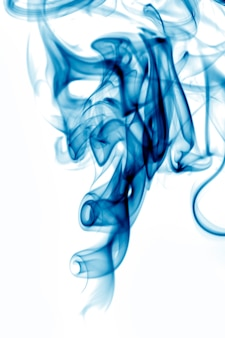 Blue toxic fumes movement.