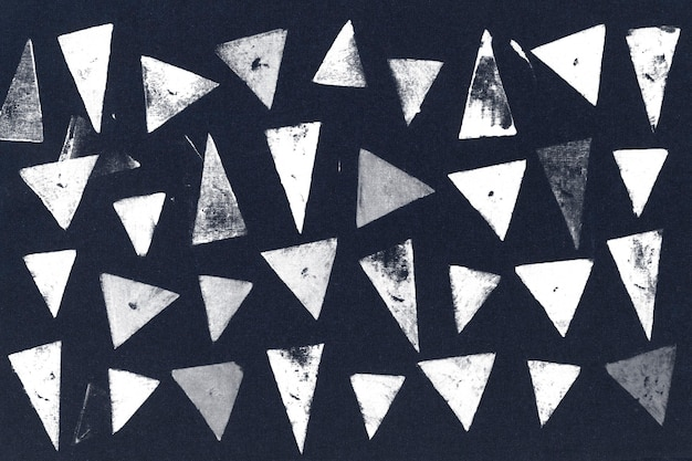 Stampe a blocchi di sfondo con motivo a triangolo blu