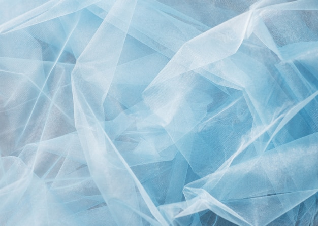 Blue tulle background