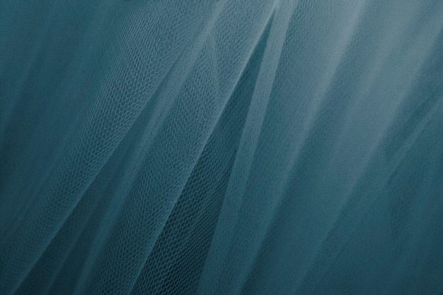 Blue tulle drapery textured