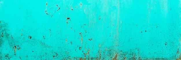 파란색, 청록색 오래 된 나무 질감 배경입니다. 거칠기와 균열.