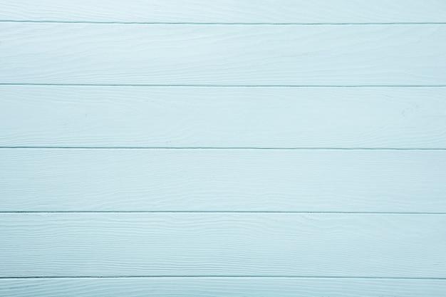 青、ターコイズの木の板の表面