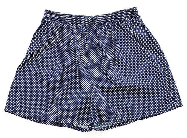 Blue underpants with white details