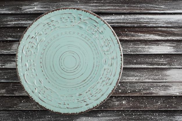 Blue vintage porcelain plate