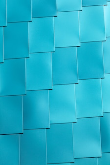Blue vinyl tile wall