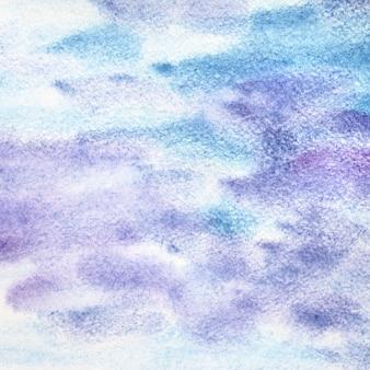 ストロークと青紫水彩抽象的な背景