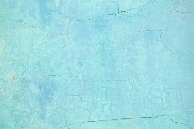 Blue wall, texture of colored cement street background