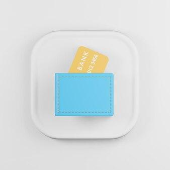 Иконка синий бумажник с мультяшном стиле банковских карт.