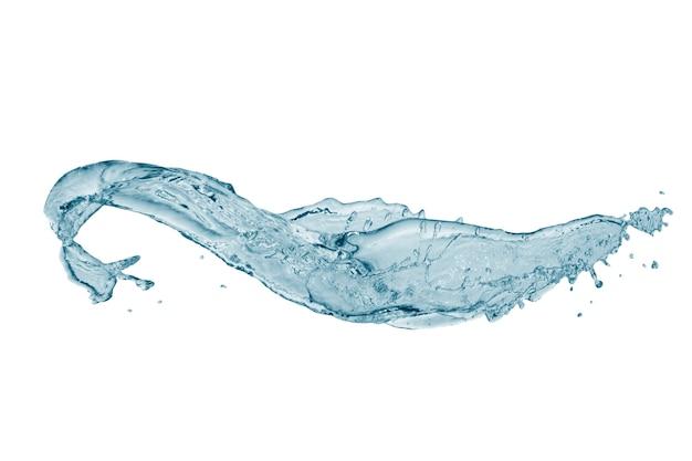 흰색 배경에 고립 된 푸른 물 스플래시