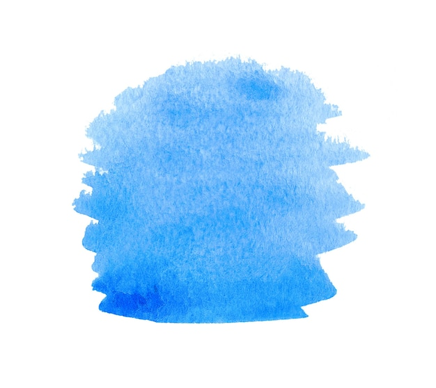 Blue watercolor abstract background or texture isolated on white
