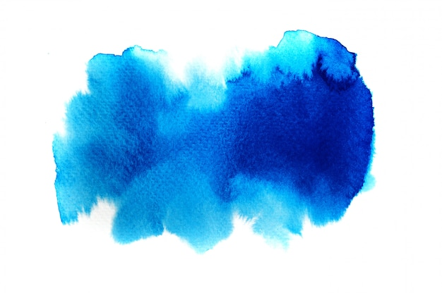 Blue watercolor background. art hand paint
