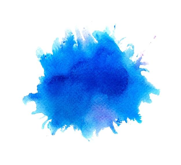 Синий акварельный фон. искусство ручная краска