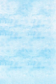Blue watercolor background on white paper background