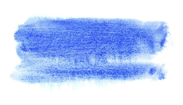 Синий акварельный мазок кисти. абстрактный фон. место для вашего собственного текста. растровая иллюстрация