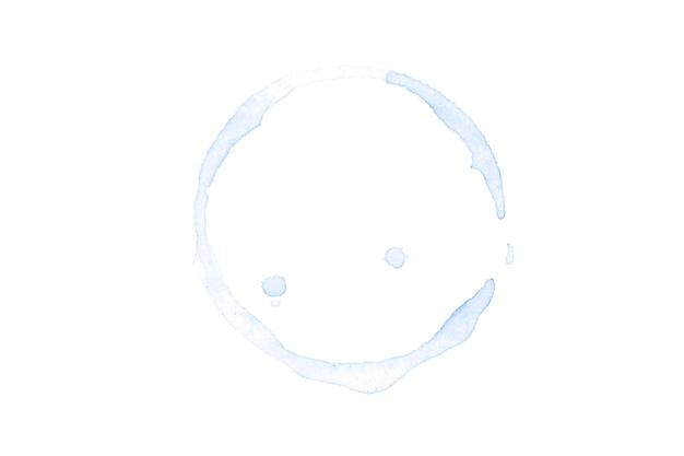 Синий круг акварель, изолированные на белом фоне