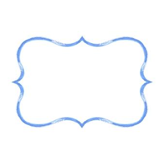 青い水彩グランジフレーム