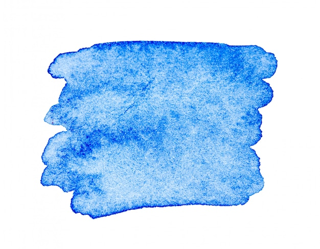 Blue watercolor paint brush