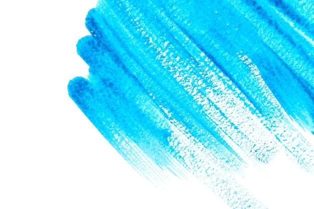 青い水彩スプラッシュストロークの背景。描くことによって