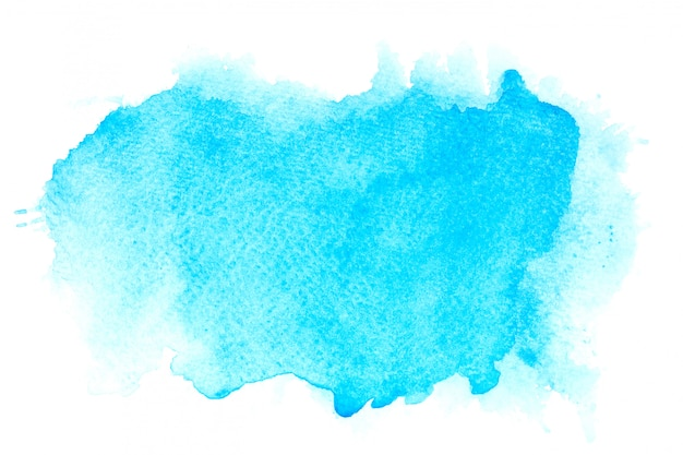 Blue watercolor stain shades paint stroke