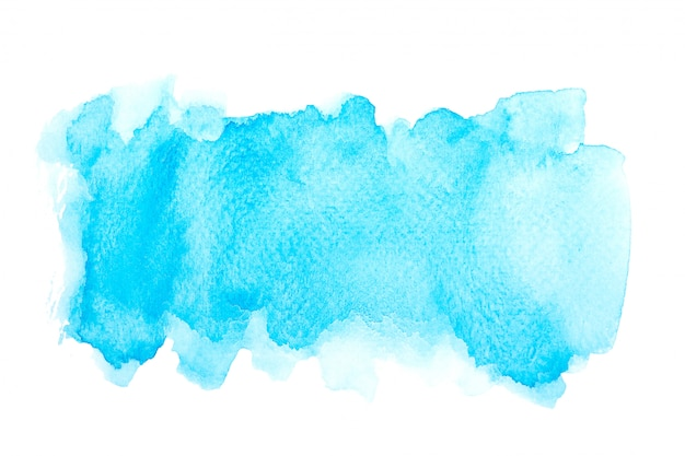 Blue watercolor stain with color shades paint stroke