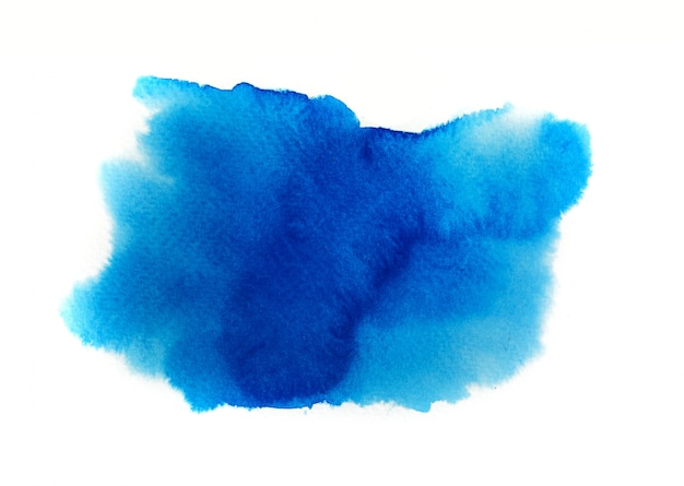 Blue watercolor on white