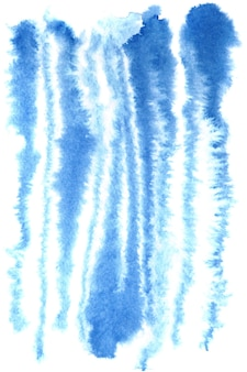 Blue watercolor zebra stripes pattern - raster illustration