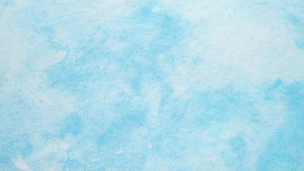 ホワイトペーパーの背景に青い水彩画テクスチャデザイン