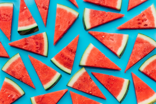 Blue watermelon background