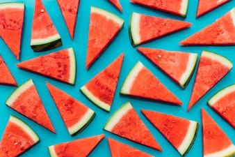Blue watermelon background