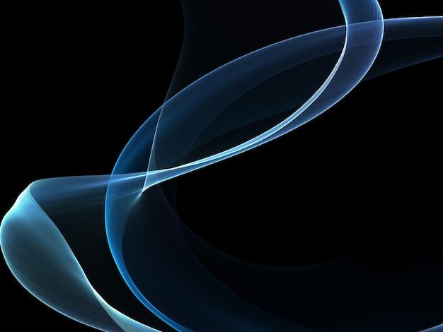 Blue wave on black