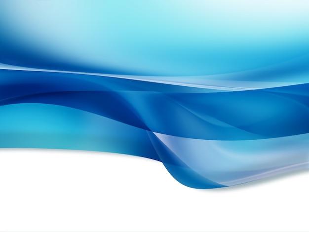 白い背景の上の青い波