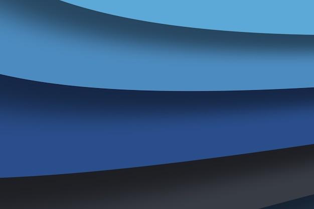 青い波の紙の層は、テキストとメッセージの背景デザインのためのスペースに重なっています。