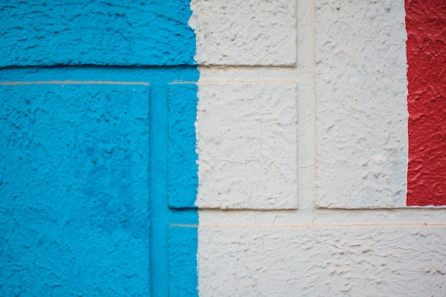 Blue, white and red painting background texture