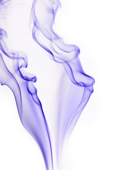 Blue and white smoke
