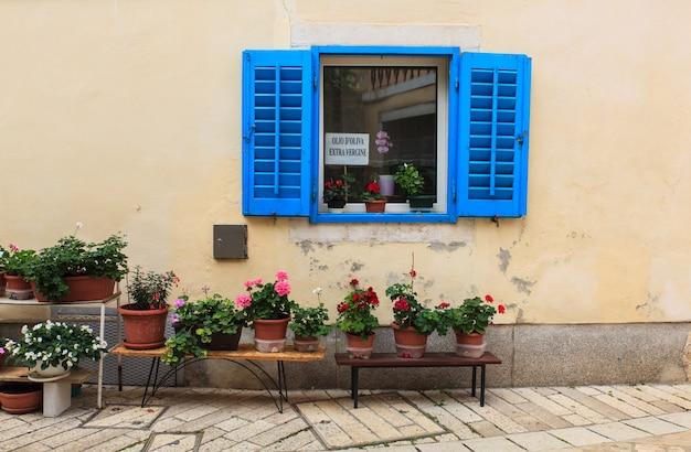 Blue window in porec