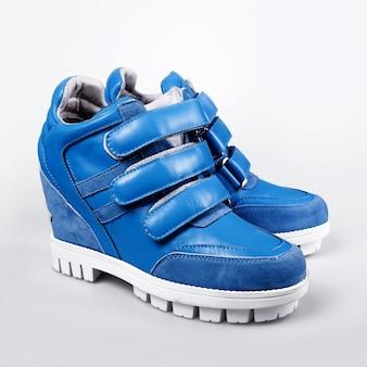 Blue winter sneakers