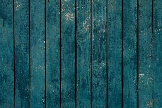 青いウッドフェンステクスチャのクローズアップ