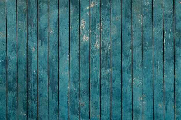 青いウッドフェンスのテクスチャ