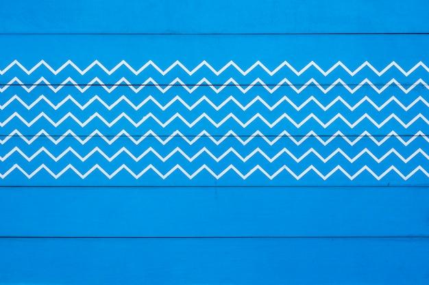青い木のテーブルの表面