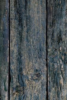 青い木の背景。ダークウッドのパネルテクスチャ。