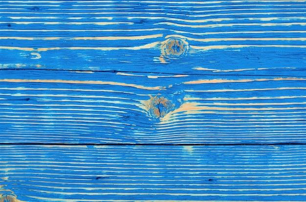 青い木製の古い背景構造