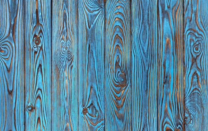 Синий фон деревянные доски, старые и гранж синего цвета текстура древесины