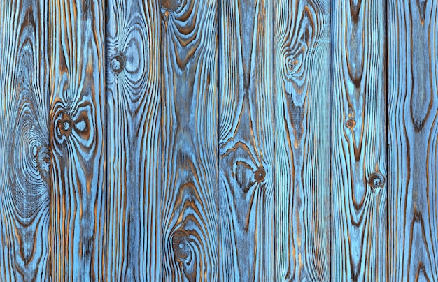 Blue wooden planks , old and grunge blue colored wood texture