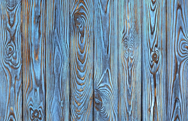 Blue wooden planks