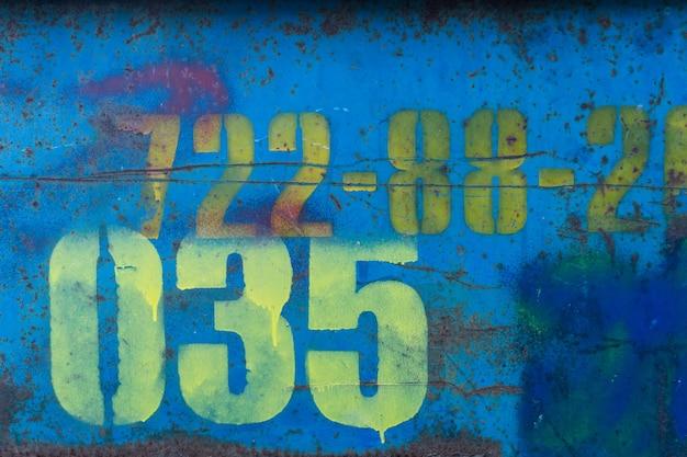 Blue worn rusty metal texture. grange effect