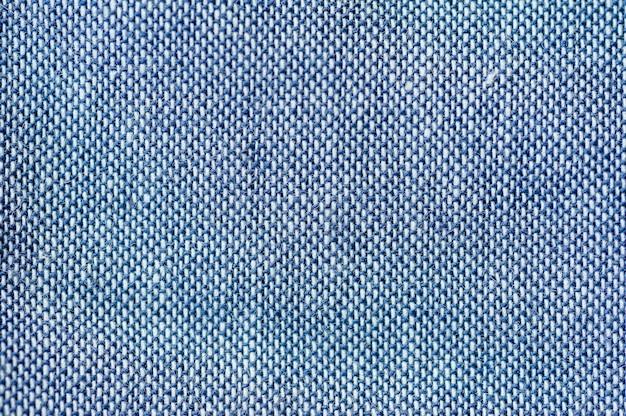 Текстура синей ткани крупным планом