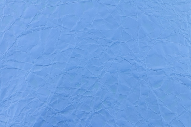 Blue wrinkled paper use for background