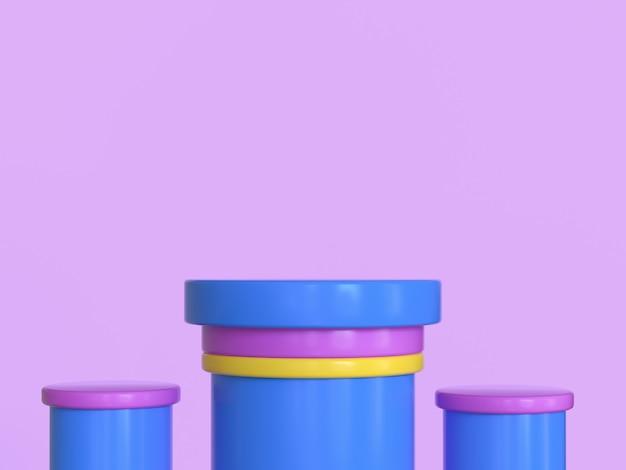 青黄色の幾何学的形状のピンクの背景