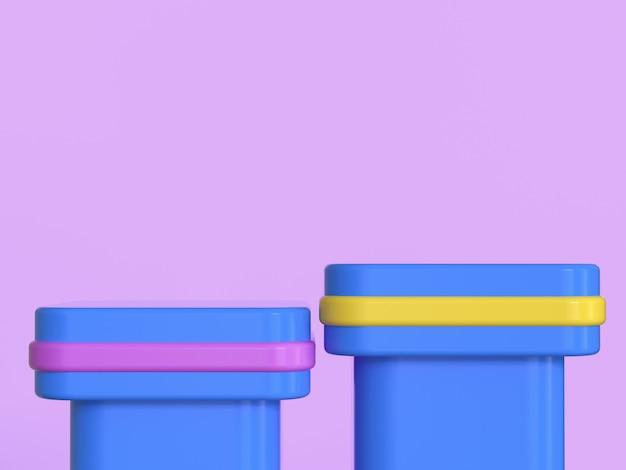 Синий желтый геометрическая форма розовый фон