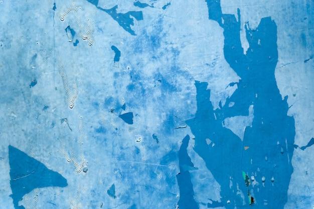 Blue zinc galvanized grunge metal texture